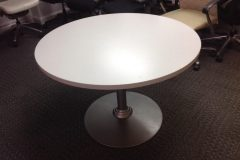 Used White Wood Top Meeting Table