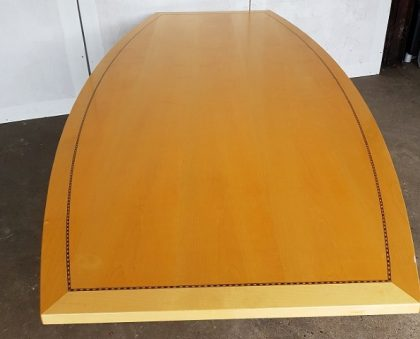 Tula Boat-Shaped Maple Veneer Meeting Tables 2400 x 1200mm
