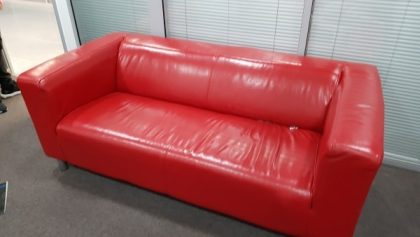 Red 3 Seater Leather Sofas