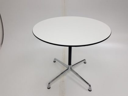 Vitra White Round Meeting Tables