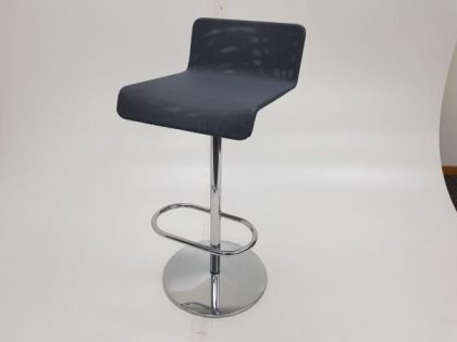Grey Mesh Upholstered Bar Stools
