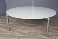 Round Frosted Glass Coffee Tables