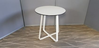 White Criss Cross Base Tables