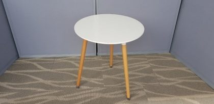 White Tripod Tables