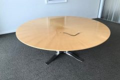 Round Maple Meeting Table