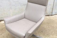 Marelli Joy Leather Swivel Armchairs
