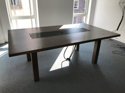 Dark Walnut Meeting Tables