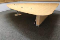 Luke Hughes Triangular Maple Boardroom Table