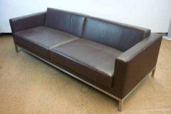 Brown Premium Leather 3-Seater Sofa