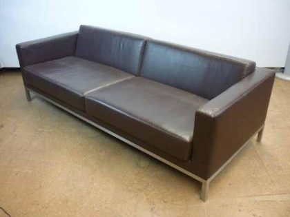 Brown Premium Leather 3 Seater Sofa