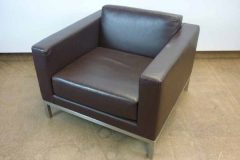 Brown Premium Leather Armchairs