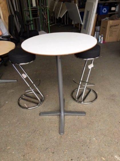White Poseur Tables
