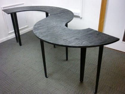 Industrial Style Black S-Shape Table