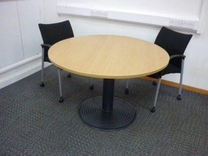 Round Oak Meeting Tables