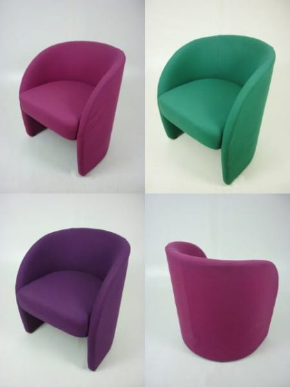 Tub-Style Fabric Armchairs
