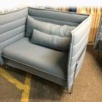 Used Vitra Alcove Plume ice blue 1.5 seater
