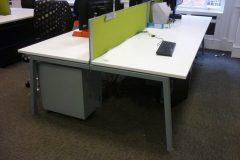 white bench desks