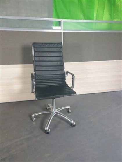Lexy Black Leather Operator Chairs