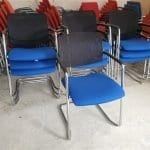 Used Mesh Back Cantilever Chairs