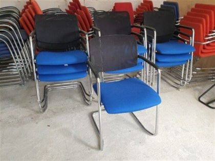 Mesh Back Cantilever Chairs