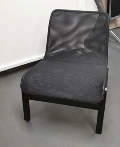 Black Mesh Easy Chairs