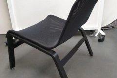 Black Mesh Easy Chairs