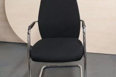 Black Cantilever Meeting Chairs
