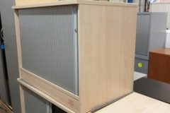 Maple Desk High Tambour Cupboards