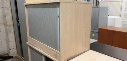 MapleDesk High Tambour Cupboards