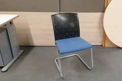 Blue And Black Cantilever Chairs