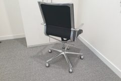 ICF Stick Black Leather Chair