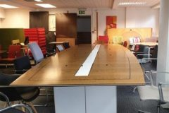 Large Walnut Boardroom Table