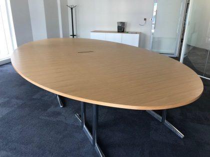 Oak Oval Boardroom Table