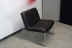 Black Faux Leather Lounge Chairs